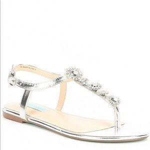 Betsey Johnson Laur Metallic & Jewel Sandals